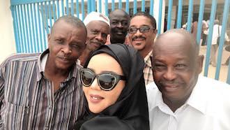 """""""ندى القلعة"""" تغني للقادة الأفارقة في احتفالات السلام بجوبا"""